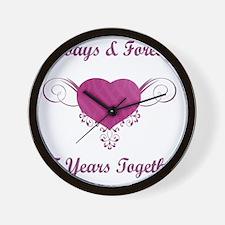 25th Anniversary Heart Wall Clock