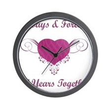 50th Anniversary Heart Wall Clock