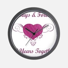 50th Anniversary Heart Wall Clock