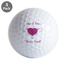 50th Anniversary Heart Golf Ball