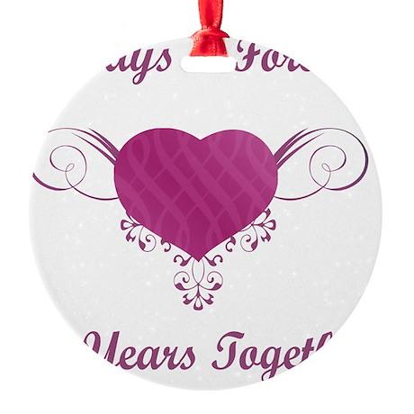 10th Anniversary Heart Round Ornament