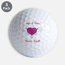 10th Anniversary Heart Golf Ball