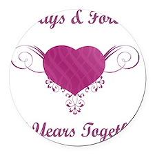 30th Anniversary Heart Round Car Magnet