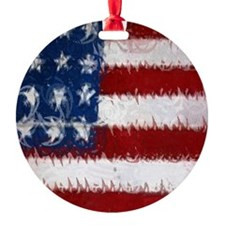 Patrotic USA  flag  note card Ornament