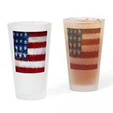 Patrotic USA  flag  note card Drinking Glass