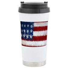 Patrotic USA  flag  note card Travel Mug