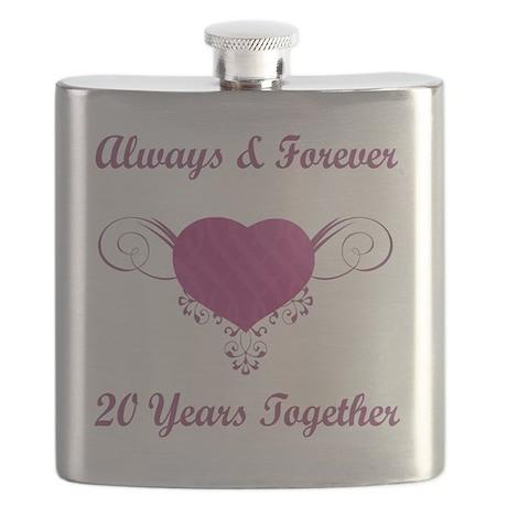 20th Anniversary Heart Flask