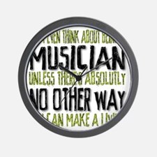 Musician No Other Way Wall Clock