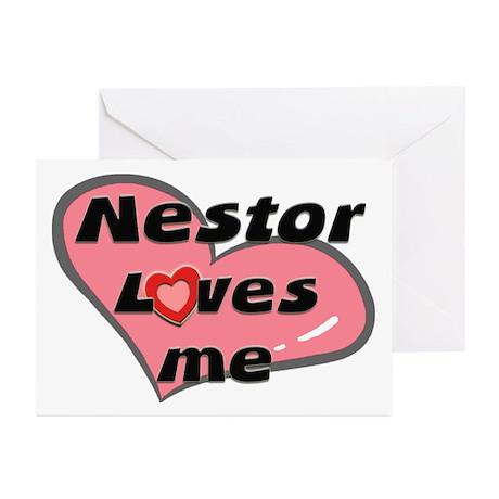 nestor loves me Greeting Cards (Pk of 10)