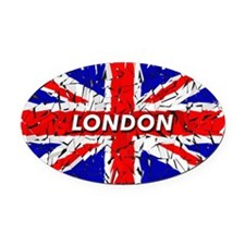London Shattered Oval Car Magnet