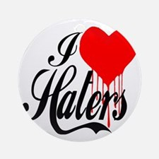 i love haters5 copy Round Ornament