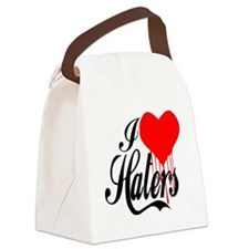 i love haters5 copy Canvas Lunch Bag