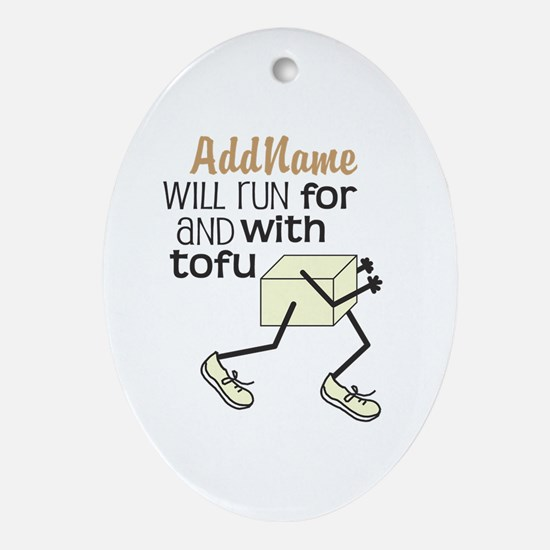CUSTOMIZE Tofu Runner Ornament (Oval)