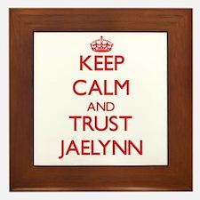 Keep Calm and TRUST Jaelynn Framed Tile