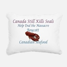 canada still kills - boy Rectangular Canvas Pillow