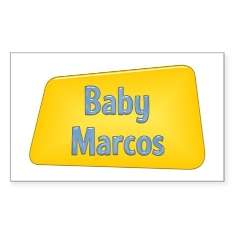 Baby Marcos Rectangle Sticker