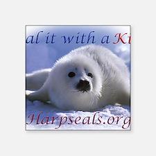 "seal-kiss1 Square Sticker 3"" x 3"""