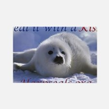 seal-kiss1 Rectangle Magnet