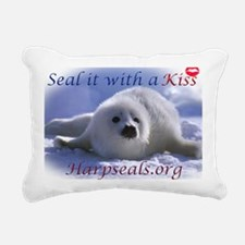 seal-kiss1 Rectangular Canvas Pillow