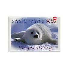 seal-kiss2b Rectangle Magnet
