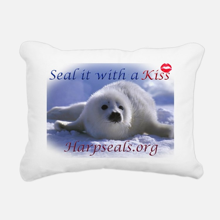 seal-kiss2b Rectangular Canvas Pillow