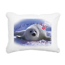 seal-kiss3c Rectangular Canvas Pillow