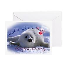 seal-kiss3c Greeting Card