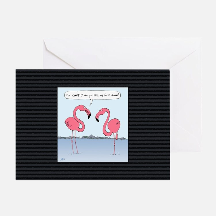 flamingosbigbag Greeting Card