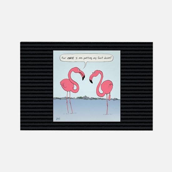flamingosbigbag Rectangle Magnet