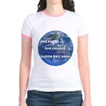 Earth Day 2009 Jr. Ringer T-Shirt