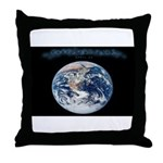 Earth Day Earthrise Throw Pillow