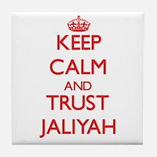 Keep Calm and TRUST Jaliyah Tile Coaster