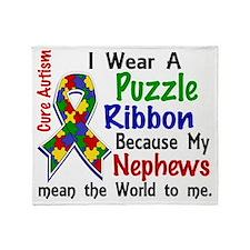 D Nephews Mean The World To Me Autis Throw Blanket