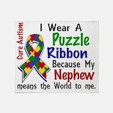 D Nephew Means The World To Me Autis Throw Blanket