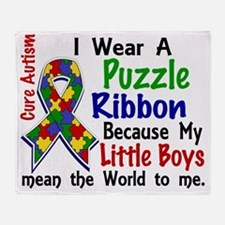 D Little Boys Mean The World To Me A Throw Blanket