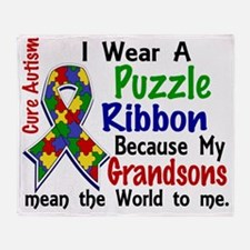 D Grandsons Mean The World To Me Aut Throw Blanket