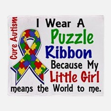 D Little Girl Means The World To Me  Throw Blanket