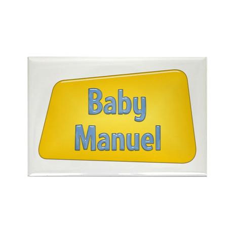 Baby Manuel Rectangle Magnet