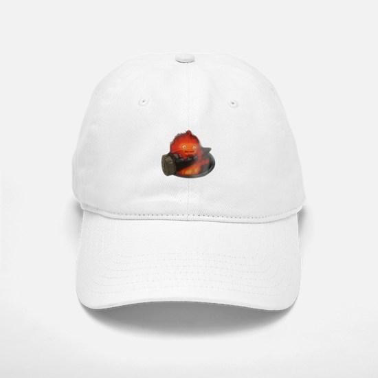 Calcifer on a log Baseball Baseball Cap