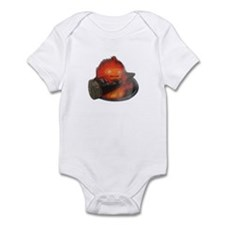 Calcifer on a log Infant Bodysuit