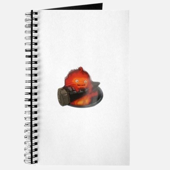 Calcifer on a log Journal