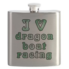 I Love Dragon Boat Racing Flask