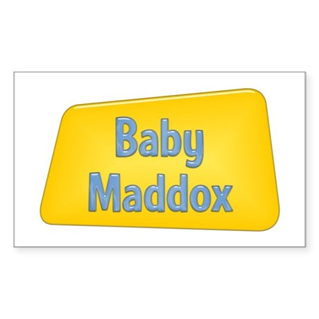 Baby Maddox Rectangle Sticker