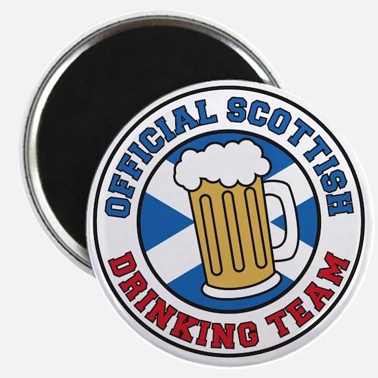 Official Scottish Drinking Team Magnet