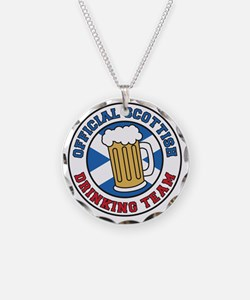 Official Scottish Drinking T Necklace
