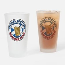Official Scottish Drinking Team Drinking Glass