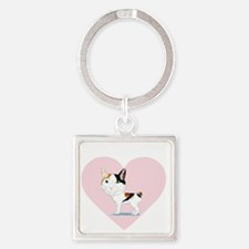I_Love_Japanese_Bobtails_transpare Square Keychain