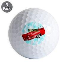 MUSCLE-CAR-1x1_button Golf Ball