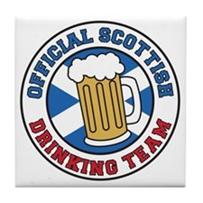 Scottish Drinking Team Glass Tile Coaster