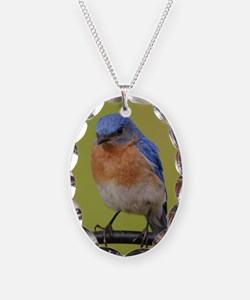 1100x1500eastern bluebird Necklace